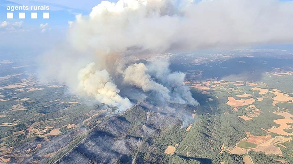 l'incendi diumenge a la zona de la Serra de Miralles