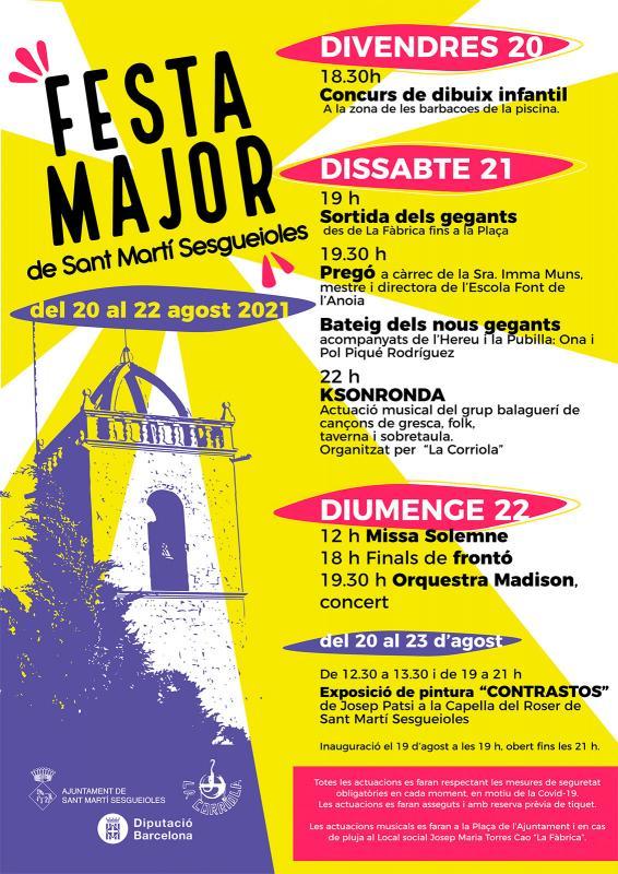 cartell Festa major de Sant Martí Sesgueioles 2021