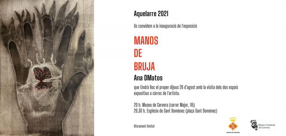 cartell Exposició 'Manos de Bruja' - Cervera