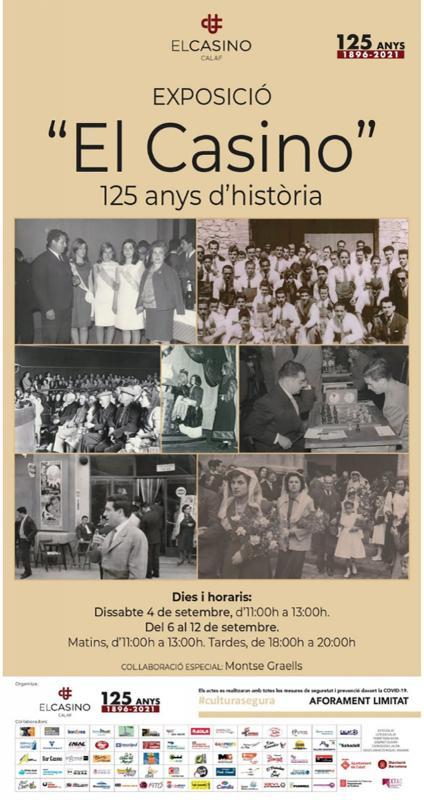 Exposició El Casino', 125 anys d'història - Calaf