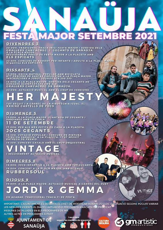 cartell Festa Major de Sanaüja 2021