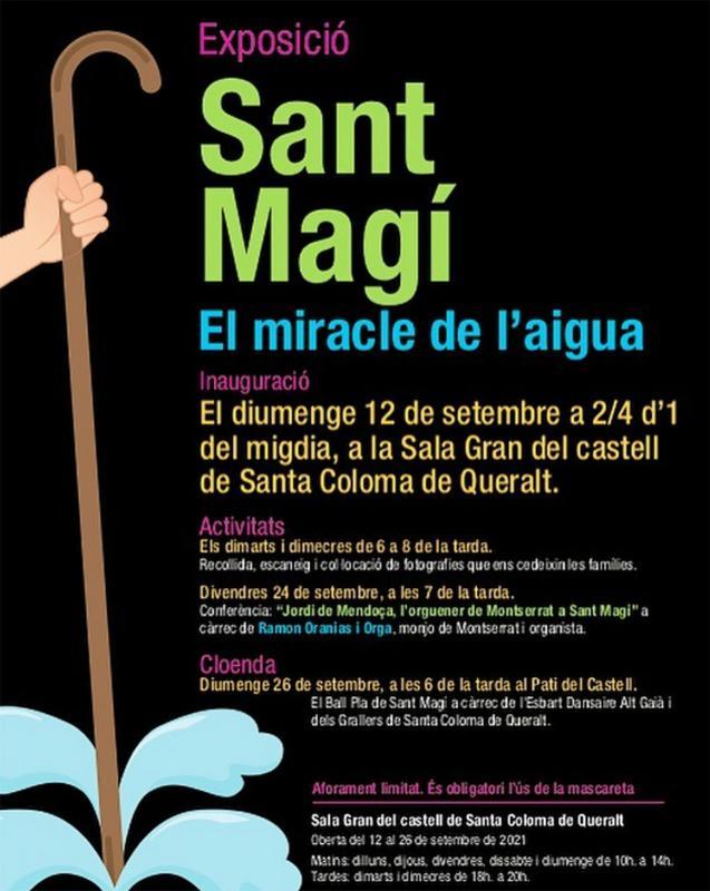 cartell Exposició 'Sant Magí. El miracle de l'aigua'