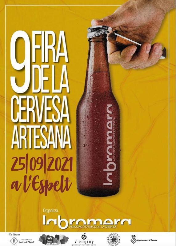 cartell 9a Fira de la cervesa artesana a l'Espelt