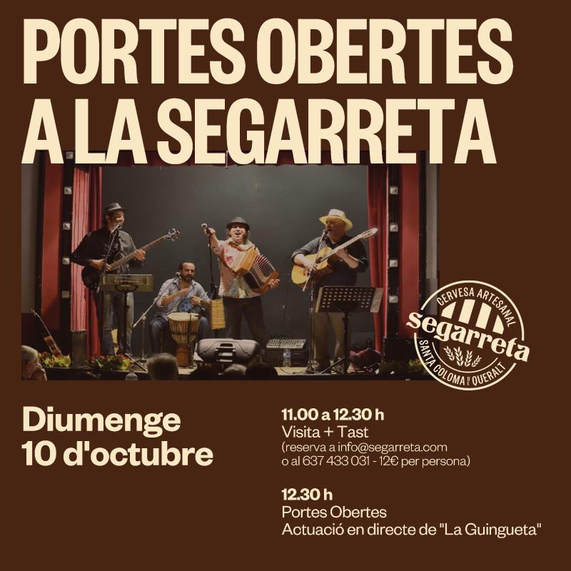 cartell Portes obertes a la Segarreta