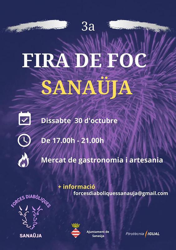 cartell 3a Fira de foc de Sanaüja