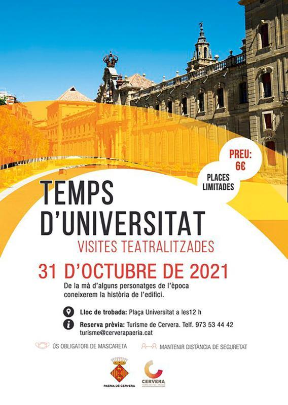 cartell Visita teatralitzada 'Temps d'Universitat'
