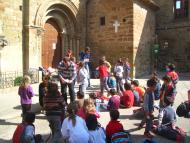 Concabella: Vista de la plaça  Escola de de les Pallargues