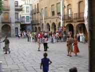 Guissona: la plaça Major, porticada  Ramon Sunyer