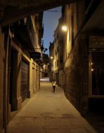 Guissona: Carrer de la Font, al vespre  Josep Maria Santesmasses Palou