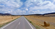 Sanaüja: '...Vaig a parar a la carretera. Les carreteres d'aquest país tenen un avantatge: el marges, menjats, són més tous...  google