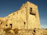 Sant Pere dels Arquells: 'Aquest casal que corona el turó, és segurament l'hereu d'un castell, i Timor el nom que designa tot el que fou la seva propietat'.   Giliet de Florejacs