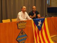 Jaume Moya, coordinador de Segarra per la Independència, i Joan Rocamora