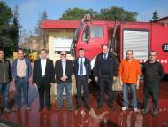 Cervera: Lliurament d'un camió dels bombers de la Generalitat al Consell Comarcal.  Consell Comarcal de la Segarra