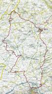 Mapa XIV Marxa de Resistència del Castells de la Segarra