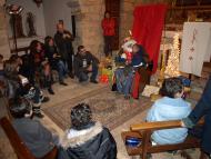 Florejacs: el Rei conversa ben campetxano amb els infants  Jaume Moya