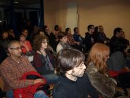 Agramunt: la sala d'actes, plena de gom a gom  Jaume Moya