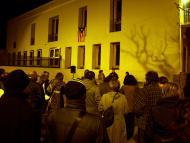 Guissona: l'Ajuntament guarnit amb una estelada a cada façana  Jaume Moya