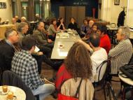els membres de la PAF Darwin reunits a Agramunt el 13 d'abril