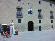 Santa Coloma de Queralt: plaça del castell  Ramon Sunyer