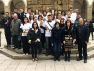 Cervera: la Colla de Bastons de Sedó van fer l'assaig general a la fira de Sant Isidre   Jaume Moya
