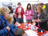 Cervera: Estand de l'ajuntament de Torrefeta i Florejacs a la fira de sant Isidre  Jaume Moya