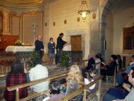 Torrefeta: Ramon Pintó, del Consell Comarcal, Núria Magrans, de l'Ajuntament, i Jaume Moya, de Camins de Sikarra  David Garcia