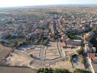 Guissona: Vista aèria de la població i del recinte Iesso  Museu Guissona