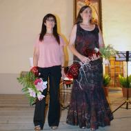 Sant Ramon: la pianista Montse Vejer, de Sant Ramon, i la cantant Anna Gascón, de Gospí,  Josep Mª Pinyot