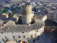 Verdú: Vista del castell i la torre de l'Homenatge  verdu.cat