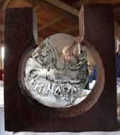 Escultura del Premi Sikarra, obra d'Ana Marín-Gálvez