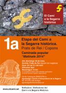 cartell 1a Etapa del Camí a la Segarra històrica / Els Prats de Rei - Copons