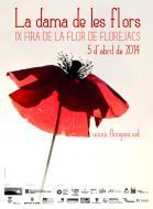 cartell de la IX Fira de la Flor, obra de Mercè Serra