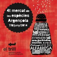 cartell 4t Mercat de les Espècies d'Argençola 2014