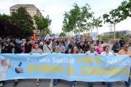 Protesta de Marea Blanca contra el consorci sanitari a Lleida