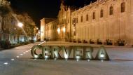 Cervera: la plaça de la Universitat remodelada  janbultaco