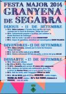 cartell Festa Major Granyena 2014