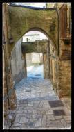 Sant Guim de la Plana: Detall carrer  Ramon Sunyer