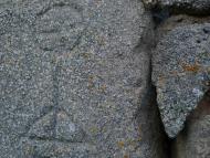 Llanera: Custòdia gravada en llinda a el Coll  xavi