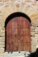 La Morana: Detall porta  Ramon Sunyer