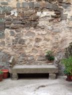 Sant Martí de la Morana: detall plaça  Ramon Sunyer