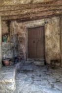 Montpalau: detall entrada casa  Ramon Sunyer