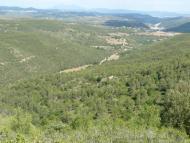 Veciana: Panoràmica del curs mig i baix del Torrent de La Coma, des de la Costa dels Marçans  Daniel Espejo Fraga
