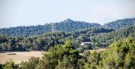 Valldeperes: Vista del castell de Queralt  Ramon Sunyer