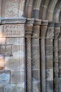 Santa Coloma de Queralt: Santa Maria de Bell-lloc detall capitells  Ramon Sunyer