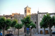 Santa Coloma de Queralt: Detall campanar  Ramon Sunyer