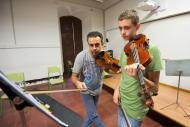 Cervera: classe del Curs de Música  Jordi Prat