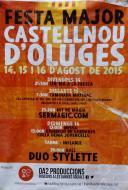 cartell Festa major Castellnou d'Oluges 2015