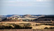 Granyanella: Vista de Granyanella i Granyena des de la Curullada  Ramon Sunyer