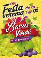 cartell 26è Bacus Verdú festa de la verema i el vi