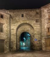 Santa Coloma de Queralt: portal  Ramon Sunyer